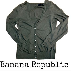 Olive Banana Repubic Cardigan Sweater Size S.